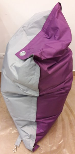 Sedací pytel OMNIBAG Duo s popruhy Light Gray-Violet 181x141