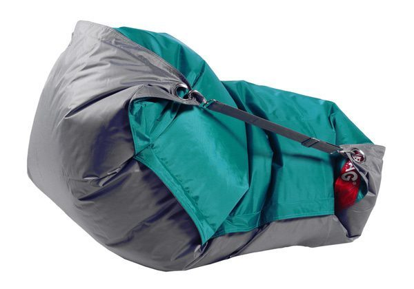 Beanbag Home Comfort Duo 189x140 s popruhy Sea Green-Gray