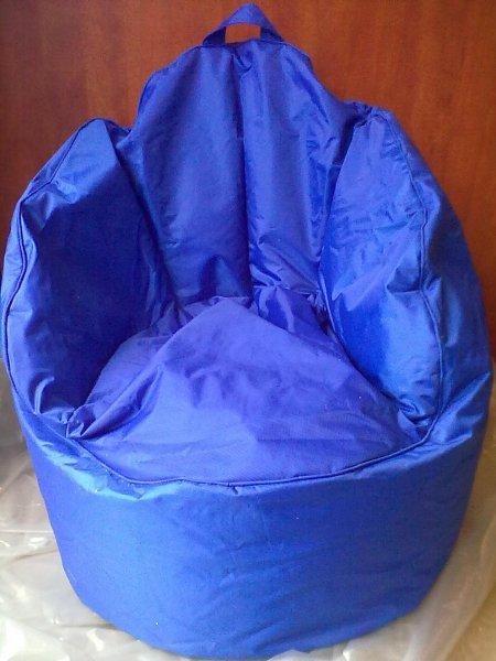 OMNIBAG Queen chair 60x60x65 modrý - sedací vak
