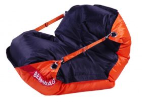Beanbag Home Comfort Duo 189x140 s popruhy Orange-Black - sedací vak