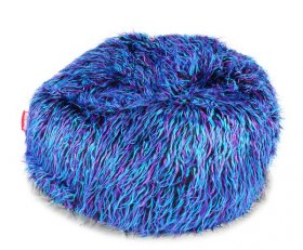 Sedací vak Beanbag Shaggy 90x50 Multicolor blue-black-purple