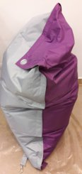 Sedací pytel OMNIBAG Duo s popruhy Light Gray-Violet 191x141